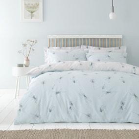 Dragonflies Seafoam Reversible Duvet Cover and Pillowcase Set