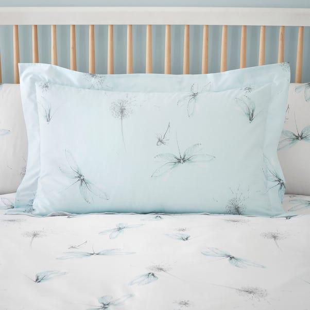 Dragonflies Blue Oxford Pillowcase Blue