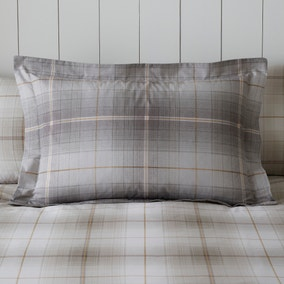 Albie Stone Check Oxford Pillowcase