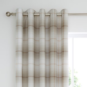 Albie Natural Blackout Eyelet Curtains