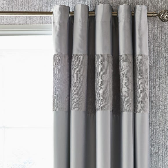 Alexei Silver Blackout Eyelet Curtains  undefined