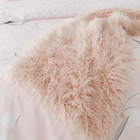 Faux Fur Blush Runner