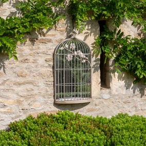 Garden Birdcage Outdoor Mirror