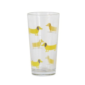 Bertie Sausage Dog Yellow Glass