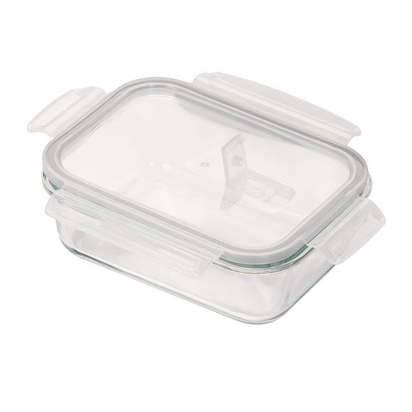 Borosilicate Glass 990ml Food Storage with Vented Lid Clear