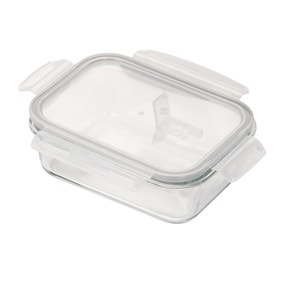 Borosilicate Glass 990ml Food Storage with Vented Lid