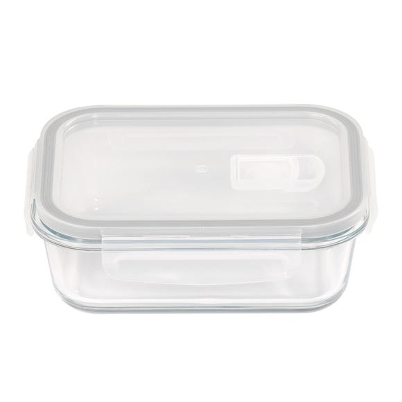 Borosilicate Glass 610ml Food Storage with Vented Lid Clear