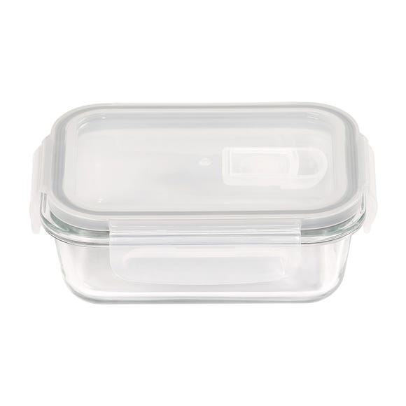 Borosilicate Glass 350ml Food Storage with Vented Lid Clear