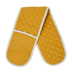 Ochre Yellow Double Oven Glove