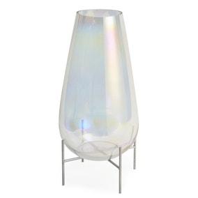 5A Large Lustre Glass Vase