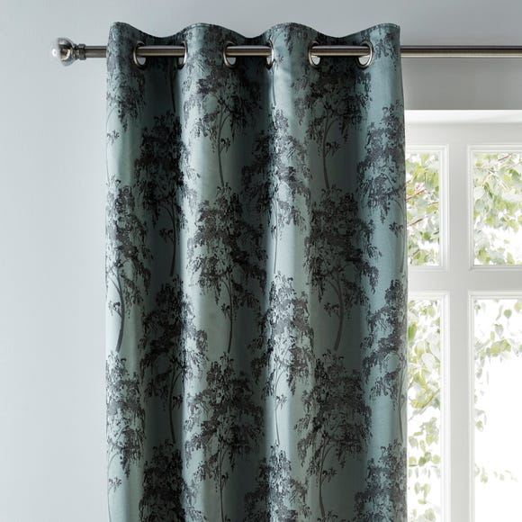 Lux Tree Woven Eyelet Curtains  undefined