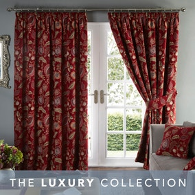 Edina Chenille Pencil Pleat Curtains
