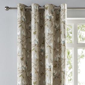 Magnolia Green Eyelet Curtains