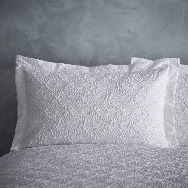 Astra Textured White Oxford Pillowcase