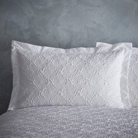 Astra Textured White Oxford Pillowcase
