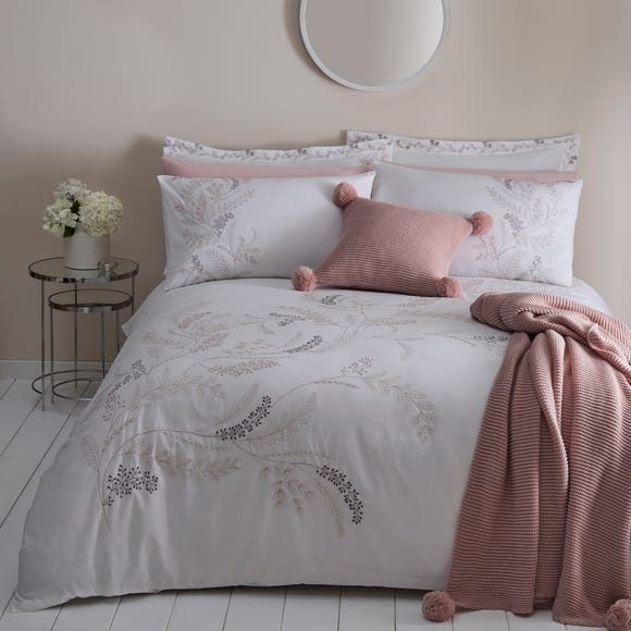 Macie Embroidered Duvet Cover and Pillowcase Set  undefined