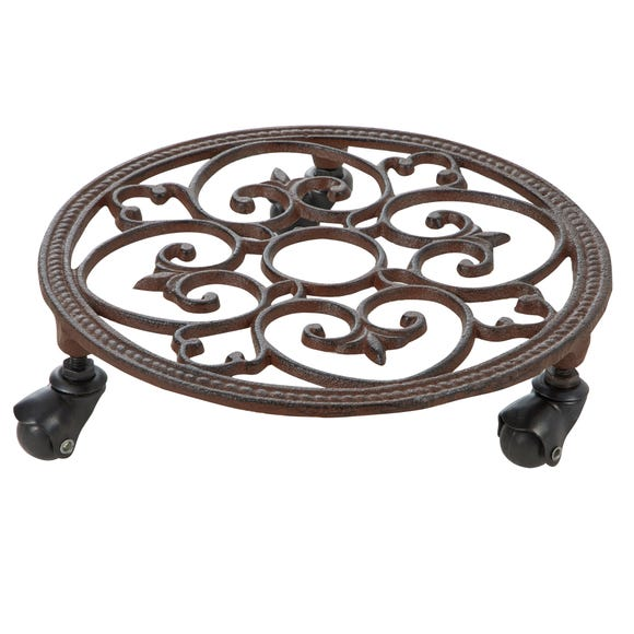 Cast Iron Plant Pot Stand Brown