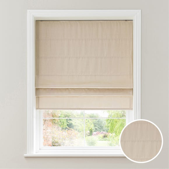 Faux Silk Cream Blackout Roman Blind  undefined