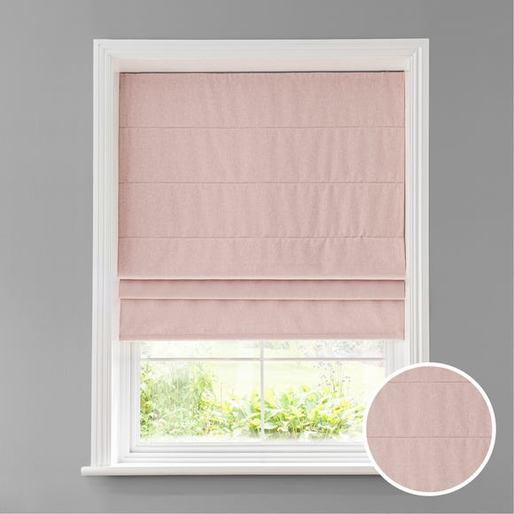 Luna Blush Blackout Roman Blind  undefined