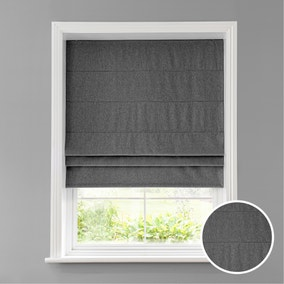 Luna Charcoal Blackout Roman Blind