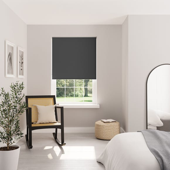 Charcoal Blackout Roller Blind Charcoal undefined