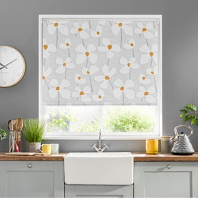 Elements Lena Floral Ochre Blackout Roller Blind