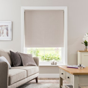 Lucy Cane Natural Blackout Roller Blind