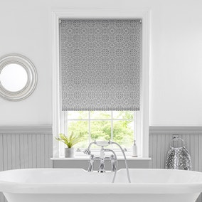 Purity Tile Grey Moisture Resistant Daylight Roller Blind