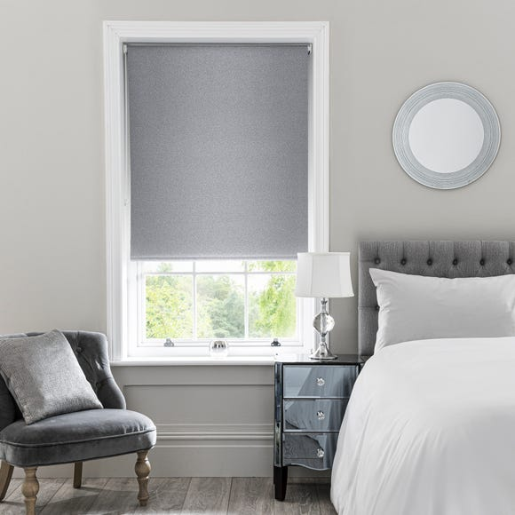 Sparkle Grey Blackout Roller Blind  undefined