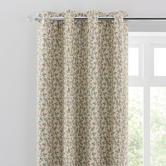 Dianna Duck Egg Eyelet Curtains  undefined