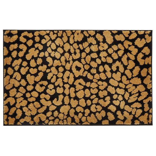 5A Fifth Avenue Broadway Gold Leopard Print Bath Mat