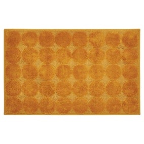 Elements Circles Ochre Bath Mat