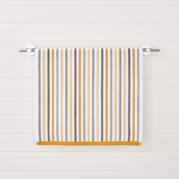 Ashbourne Stripe Ochre Towel Ochre (Yellow) undefined