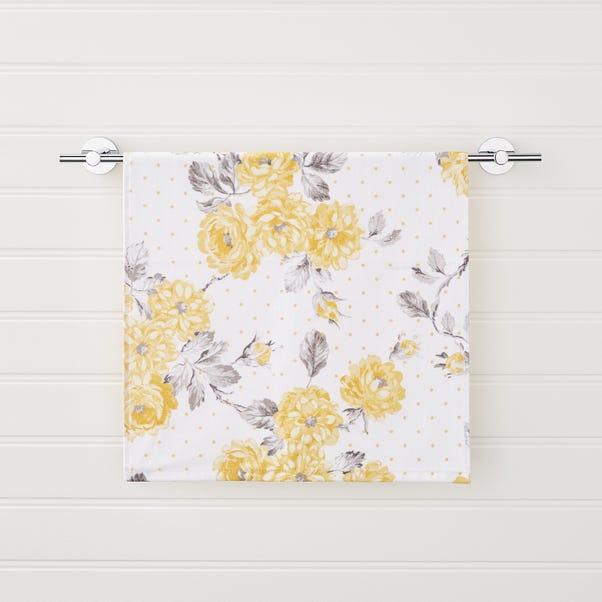Ashbourne Floral Ochre Hand Towel Ochre (Yellow) undefined