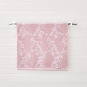 Heavenly Hummingbird Jacquard Blush Towel
