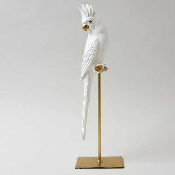 White Parrot On Stand White