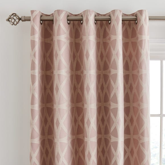 York Jacquard Blush Eyelet Curtains  undefined