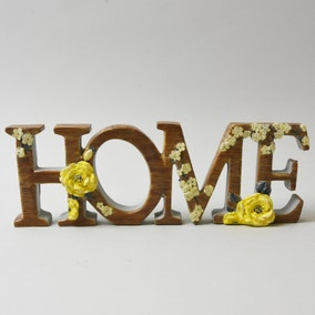 Yellow Home Ornament