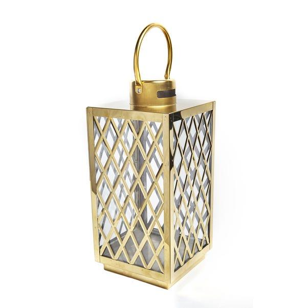 Gold Lattice Lantern Gold