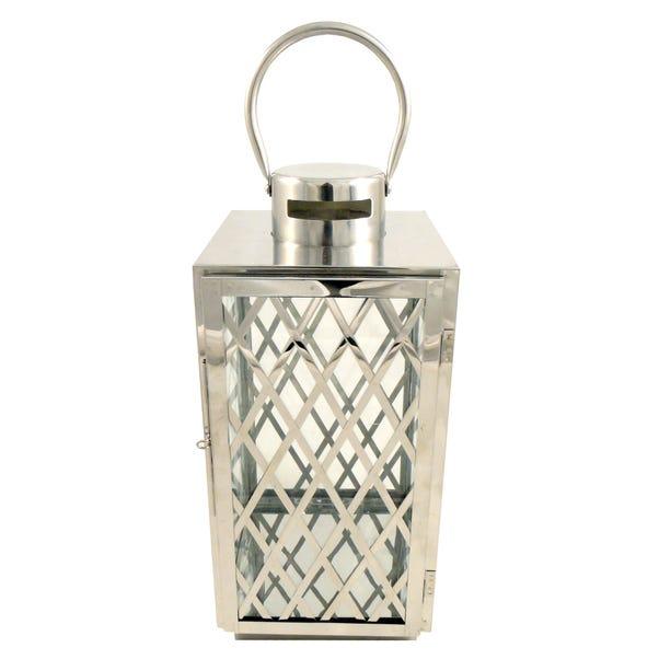 Lattice Lantern Silver