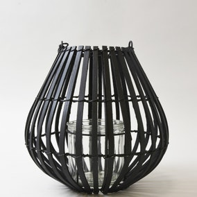 Black Bamboo Lantern - Small