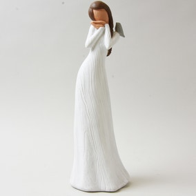 Lady with Bird Sculpture
