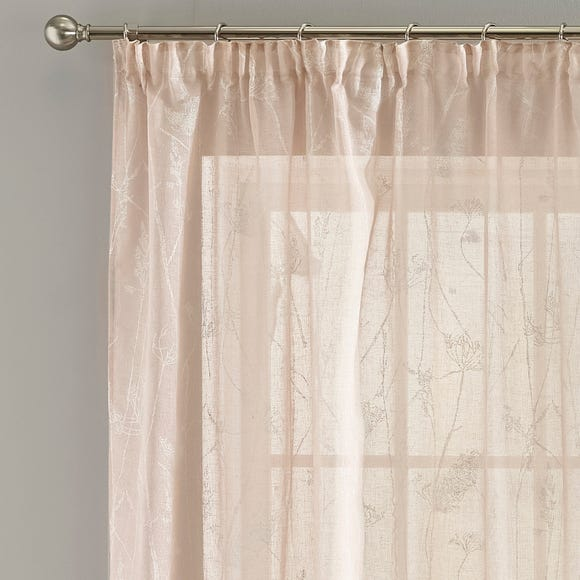 Meadows Blush Tape Top Single Voile Panel  undefined