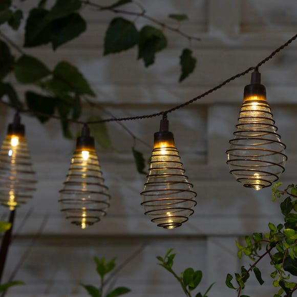 10 LED Wire Bulb Outdoor String Lights Warm White