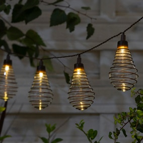 10 LED Wire Bulb Outdoor String Lights