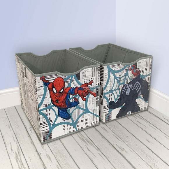 Disney Marvel Spider-Man Twin Pack Storage Boxes Multi Coloured