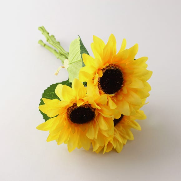 Artificial Sunflower Yellow Bundle 30cm Yellow