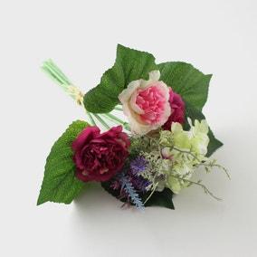 Artificial Cornflower and Hydrangea Bundle 30cm