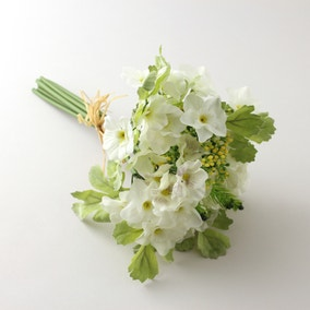 Artificial Primula Narcissi Cream Bundle 30cm