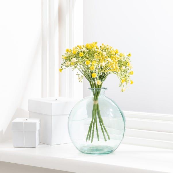 Artificial Gypsophila Yellow Bundle 28cm Yellow